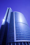 Nieuw wolkenkrabbers commercieel centrum in Moskou stad stock afbeelding