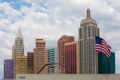 Nieuw York-Nieuw York op de Strook van Las Vegas Royalty-vrije Stock Afbeeldingen