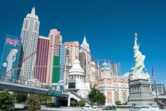 Nieuw York-Nieuw York op de Strook van Las Vegas in Nevada Royalty-vrije Stock Foto