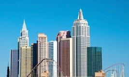 Nieuw York-Nieuw York op de Strook van Las Vegas in Nevada Stock Fotografie