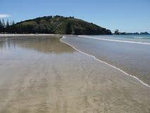 Nieuw Zeeland: De landtong van de Matauribaai Royalty-vrije Stock Foto