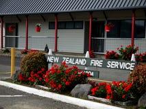 Nieuw Zeeland: kleine stadsbrandweerkazerne stock foto's