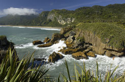 Nieuw Zeeland - Kustlijn - Zuidelijk Eiland Royalty-vrije Stock Fotografie