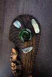 Nieuw Zeeland - Maori als thema gehade zuivere voorwerpen -, greenstone en abalon royalty-vrije stock afbeeldingen
