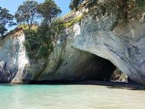 Nieuw Zeeland - Te whanganui-a-Hei & x28; Kathedraal Cove& x29; Marine Reserve stock foto