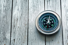Nieuw zwart kompas Royalty-vrije Stock Foto