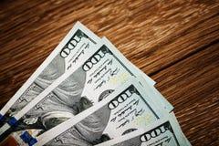 Nieuwe 100 Amerikaanse dollars 2013 uitgavenbankbiljetten Stock Afbeeldingen
