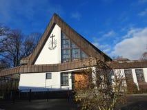 Nieuwe Apostolische kerk in Silute, Litouwen stock fotografie