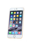 Nieuwe Apple-iPhone 6 plus geïsoleerd Royalty-vrije Stock Afbeeldingen