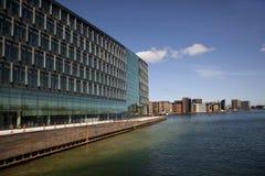 Nieuwe architectuur. Kopenhagen Stock Foto