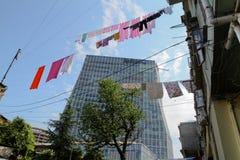 Nieuwe architectuur van Batumi, Georgië Stock Afbeeldingen