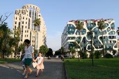 Nieuwe architectuur van Batumi, Georgië Royalty-vrije Stock Fotografie