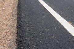 Nieuwe asfaltweg Stock Afbeeldingen