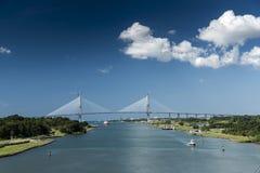 Nieuwe Atlantische brug die voltooiing naderen stock fotografie