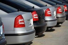 Nieuwe auto's stock foto's