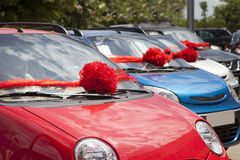 Nieuwe auto's royalty-vrije stock afbeeldingen