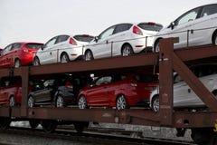 Nieuwe auto's royalty-vrije stock afbeelding