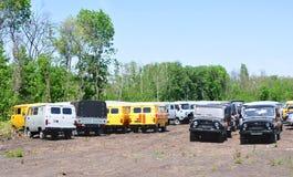 Nieuwe auto's UAZ Voronezh, autoshop Royalty-vrije Stock Foto