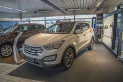 Nieuwe auto, santafe 2.2 van Hyundai Royalty-vrije Stock Afbeeldingen
