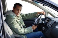 Nieuwe autoeigenaar royalty-vrije stock foto's
