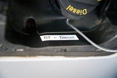Nieuwe B7 die voor de EU-brandstof 3 merken stock foto
