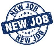 Nieuwe baan blauwe zegel royalty-vrije illustratie