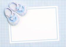 Nieuwe babyaankondiging Stock Foto's