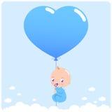 Nieuwe babyjongen stock illustratie