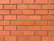 Nieuwe bakstenen muur van rode bakstenen Royalty-vrije Stock Foto