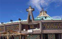 Nieuwe Basiliek Guadalupe Shrine Mexico City Mexico royalty-vrije stock foto's