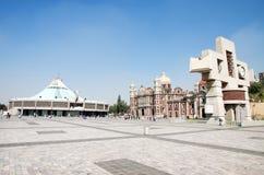 Nieuwe Basiliek van Onze Mary van Guadalupe, Mexico-City Stock Afbeeldingen