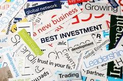 Nieuwe bedrijfs beste investeringen Royalty-vrije Stock Foto