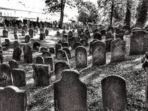 Nieuwe Bijov, Tsjechische Republiek - 06 Augustus, 2018: Joodse begraafplaats van de 15de eeuw Het oudst in de Tsjechische Republ Stock Fotografie