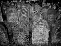 Nieuwe Bijov, Tsjechische Republiek - 06 Augustus, 2018: Joodse begraafplaats van de 15de eeuw Het oudst in de Tsjechische Republ Royalty-vrije Stock Foto's