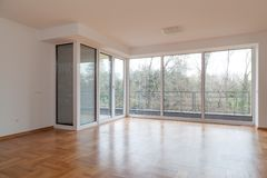 Nieuwe binnenlandse flat, Stock Foto