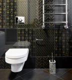 Nieuwe binnenlandse ruimte in zwarte kleuren Stock Foto's