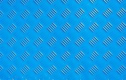 Nieuwe blauwe van het de plaatstaal textuur van het achtergrondmetaalijzer de ruitvorm royalty-vrije stock afbeelding