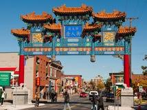 Nieuwe boog voor Chinatown, Ottawa stock afbeeldingen