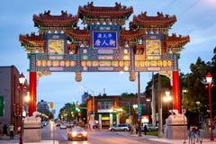 Nieuwe boog voor Chinatown, Ottawa Canada Royalty-vrije Stock Foto's