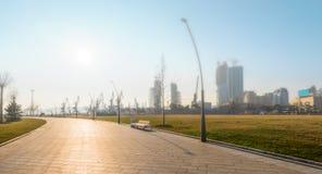 Nieuwe Boulevard in Baku Stock Afbeelding