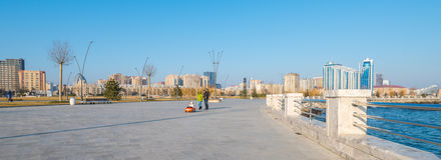 Nieuwe Boulevard in Baku Royalty-vrije Stock Fotografie
