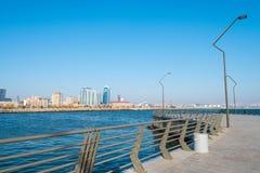 Nieuwe Boulevard in Baku Ag Sheher Royalty-vrije Stock Foto's