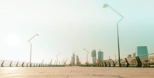 Nieuwe Boulevard in Baku Ag Sheher Stock Foto's