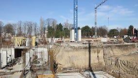 Nieuwe bouwconstructieplaats stock videobeelden