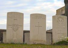 Nieuwe Britse Begraafplaats in de gebieden grote oorlog van Vlaanderen stock afbeeldingen