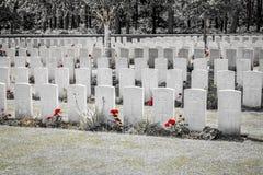Nieuwe Britse Begraafplaatswereldoorlog 1 de gebieden van Vlaanderen royalty-vrije stock foto