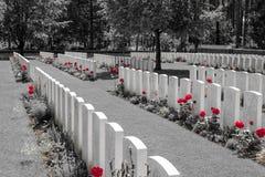Nieuwe Britse Begraafplaatswereldoorlog 1 de gebieden van Vlaanderen stock afbeelding