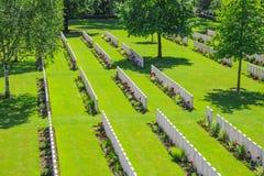 Nieuwe Britse Begraafplaatswereldoorlog 1 de gebieden van Vlaanderen royalty-vrije stock afbeelding