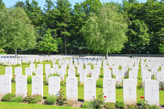 Nieuwe Britse Begraafplaatswereldoorlog 1 de gebieden van Vlaanderen royalty-vrije stock afbeeldingen