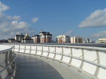 Nieuwe brug in Astana royalty-vrije stock fotografie